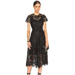 Kate Sylvester Devota Black Scalloped Lace Dress